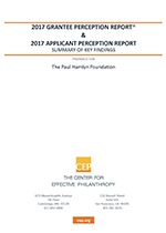 Grantee and Applicant Perception Report (2017)